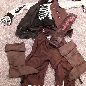 Jack sparrow and hat with braids costume
